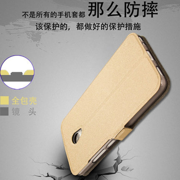 "5.2"" For Meizu M5 M 5 Meilan5 Case High Quality Flip TPU Leather Case For Meizu M5 Meilan 5 M5 M 5 Phone Cell With Stand"