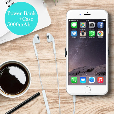 5000mAh Battery Charger Case For IPhone 7 Charging Case For IPhone 6 6s Iphone 8 4.7 Inch Portable Power Bank