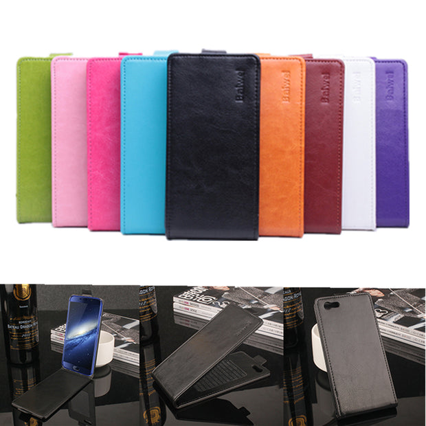 9 Colors High Quality Leather Case For Elephone S7 / S7 Mini Flip Cover With Elephone S7 Mini Cellphone Cover Case Phone Cases