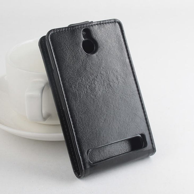 9 Colors High Quality Leather Case For Sony Xperia E1 / Falcon / D200X Flip Cover Case For E 1 XperiaE1 Phone Cases