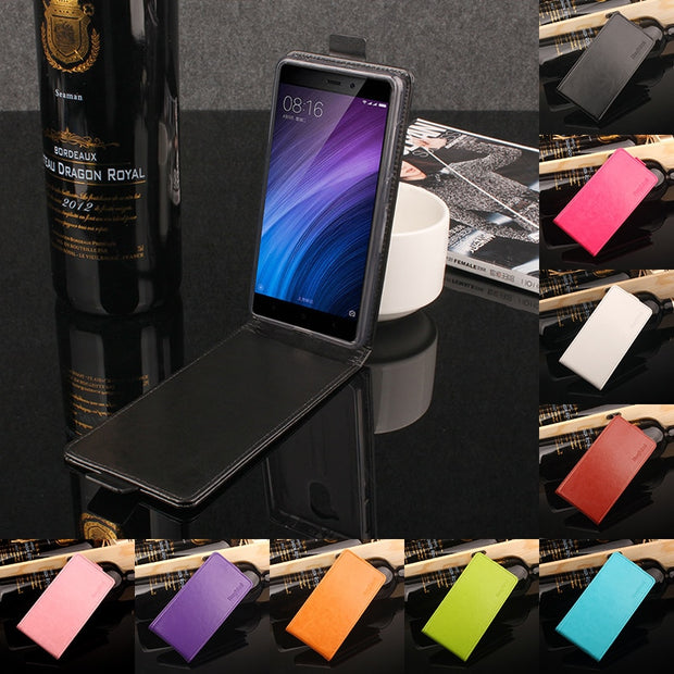 9 Colors High Quality Leather Case For XiaoMi Redmi 4 / 4 Pro Flip Cover With Redmi4 4Pro Note 4X Cellphone Cover Phone Cases