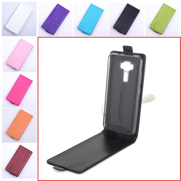 9 Colors High Quality Leather Case For ASUS Zenfone 3 Lite ZE520KL 5.2inch Phone Flip Cover With Zenfone3 Cellphone Cases