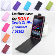9 Colors High Quality Leather Case For SONY Xperia Z1 Mini / Compact / D5503 Flip Cover Case For Z 1 Mini D 5503 Phone Cases