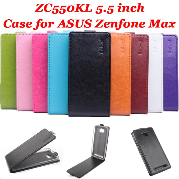 9 Colors High Quality Luxury Leather Case For ASUS Zenfone Max ZC550KL 5.5 Inch Flip Cover Case For ZC550KL Cases Phone Housing