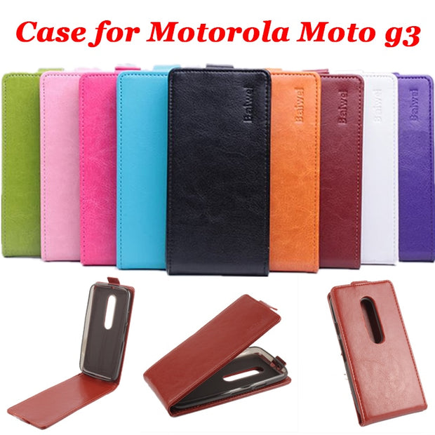 9 Colors High Quality Luxury Leather Case For Motorola Moto G3 Flip Case For Motorola Moto G 3 Cellphone Cases Phone Housing