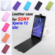 9 Colors High Quality Luxury Leather Case For SONY Xperia T2 Ultr Flip Cover Case For T 2 XperiaT2 Phone Cover Cases