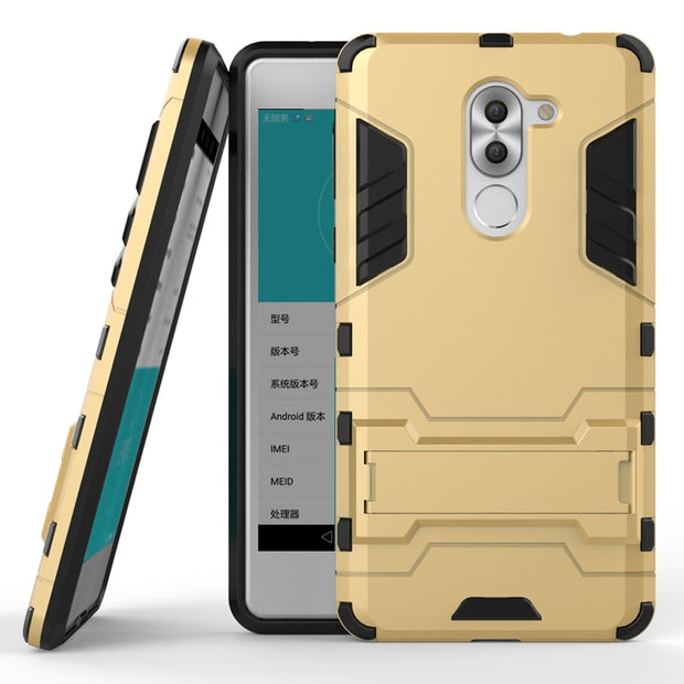 AIPUWEI CASE FOR Huawei Honor 6X Case Cover Iron Man Shockproof Cover TPU+PC+Stand For Huawei Honor 6X Cover 5.5 Inch Capa Skin