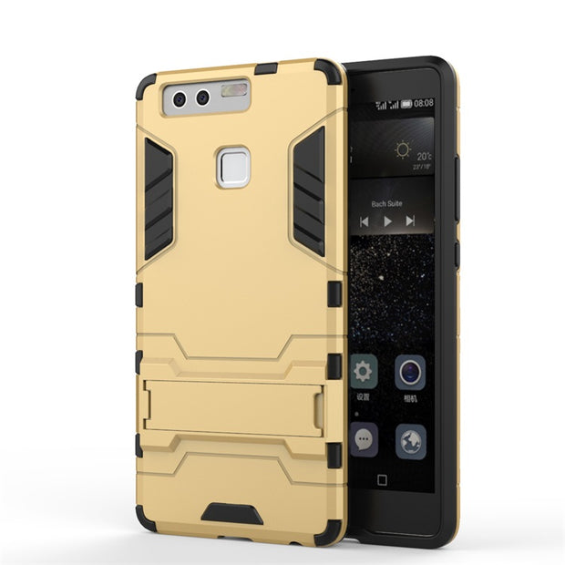 "AIPUWEI Case For Huawei P9 Lite Cover PC+TPU Armor Anti-knock Protective Back Cover For Huawei G9 Lite 5.2"" CAPA COQUE P9lite"