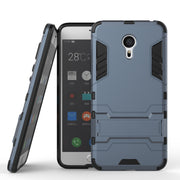 AIPUWEI For Meizu Pro 6 Case Cover Skin Robot Armor Heavy Duty Hard Plastic Cover Silicon Rubber Kickstan Case Coque Meizu Pro6