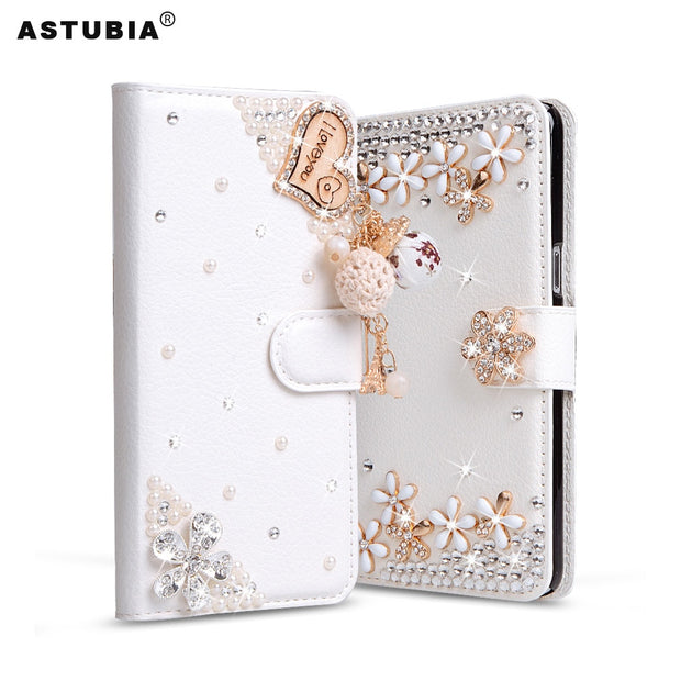 ASTUBIA For Huawei Nova 2i Case Cover Filp Luxury Rhinestone PU Leather Phone Case For Huawei Mate 10 Lite Case For Maimang 6