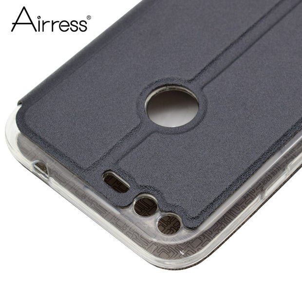 Airress Luxury Smart Filp Phone Case For Google Pixel Quick Answer View Window Flip Stand Pixel XL Phone Cover