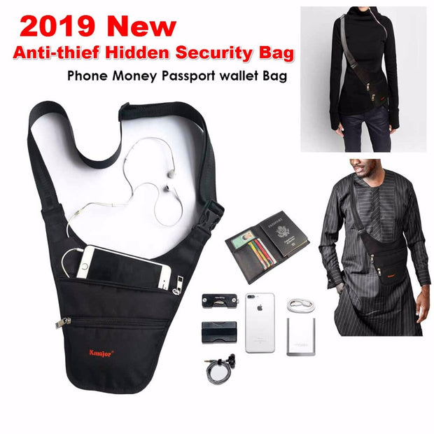 Anti-thief Hidden Security Bag, Underarm Shoulder Armpit Phone Money Passport Wallet Pouch Bag Case For Xiaomi Mi Max 3