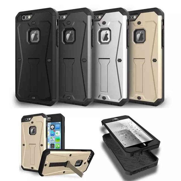 Armor Dirt Shockproof Stand Cell Phone Case For Samsung S6 S7 Note 5 LG G4 G5 IPhone 7 6 S Plus 5S SE Protective Coque