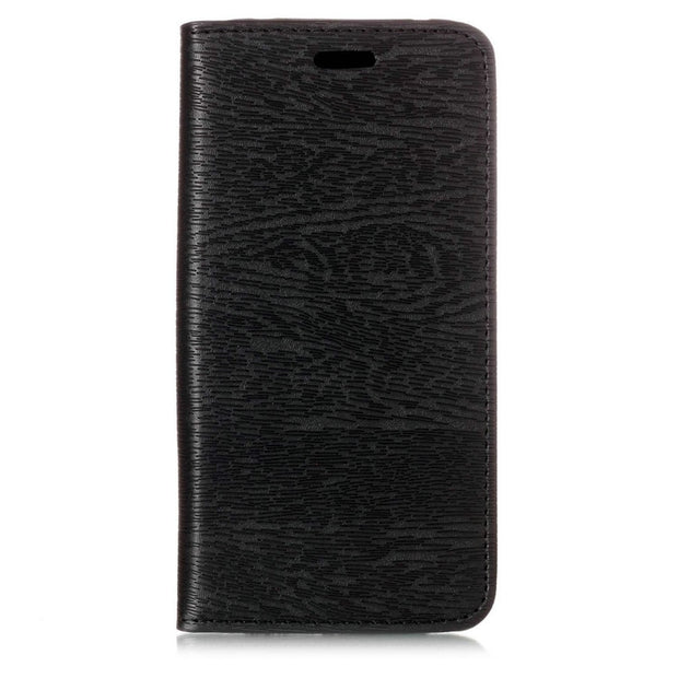 Auto-absorbed Wood Texture Leather Phone Case For Xiaomi Redmi Note 5 (12MP Rear Camera) / Redmi 5 Plus (China)