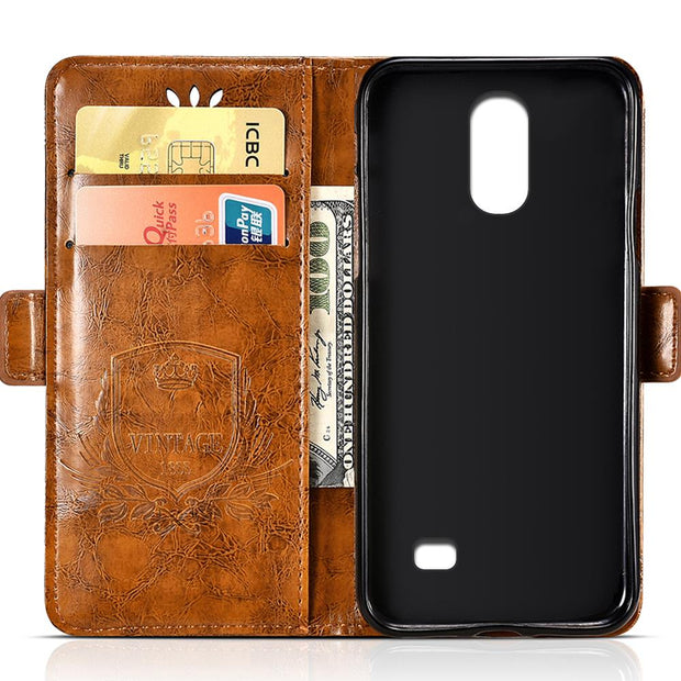 BOGVED Vintage Embossing Flip Leather Case For Homtom S12 Case Silicone Soft For Homtom S16 Cover Mobile Phone Cases Bags