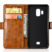 BOGVED Vintage Embossing Flip Leather Case For Homtom S7 Case Silicone Soft For Homtom S8 Cover Mobile Phone Cases Bags