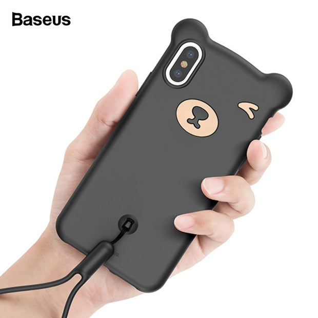 Baseus Bear Cute Case For IPhone XR XS Max 6.5 Coque Soft Silicone Protective Back Cover For IPhone XS X S XsMax Capinhas Fundas