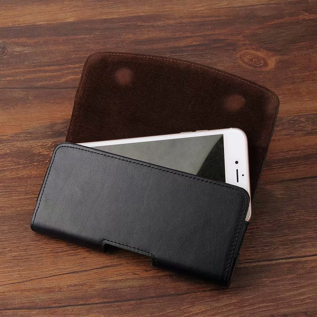 Belt Clip Genuine Leather Case Pouch For Lenovo K5 Play/S5/K320t/K8 Note/ZUK Edge/A6600 Plus/P2/C2/K6 Note/K6 Power/A7000 Turbo