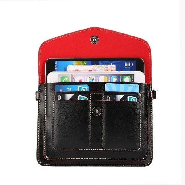 "Bestoffer2U PU Leather Case For IPhone 5 SE 5S 6 6s 7 Plus 6.3"" Below Women Girls Pouch Holster Cover Multi Pocket Magnetic Bag"