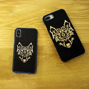 Black Maple Wolf Retro Individual Original Real Wood Phone Case For IPhone 6 S 7 8 Plus X S MAX R Protective Screen Wooden Cover