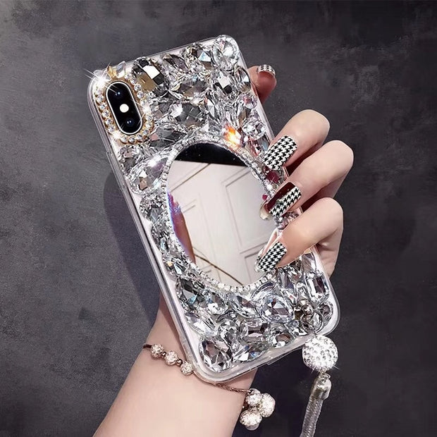 Bling Crystal Diamond Back Case Cover Voor Oppo A37 F5 F7 F9 A7X A3 A5 A83 F3 Plus F3 A71 2018 Case Rhinestone Phone Case