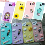 BotexBling Korea Cartoon Cute DIY Candy Case For Samsung Galaxy Note8 S8 Plus 2017 A3 A5 A7 A520 For Iphone X Case 8 8plus 7plus