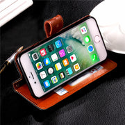 BotexBling Luxury Fresco Leather Case For Iphone 7 7plus 6 6s Plus 6plus 8 8plus Soft Cover Palace Flower Genuine Buckle 5c