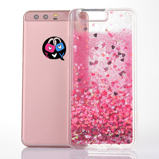 BotexBling Pink Flamingo Liquid Quicksand Girl Boss Phone Case For Huawei P10 Plus P10plus Case Flower Soft Cover For Honor V9