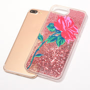 BotexBling Luxury Glitter Roses All Day Liquid Quicksand Phone Case For Iphone 6 6s Plus 6plus 8 8PLUS For Iphone 7 Case Cover