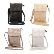 "Boucho 5.7"" Woven Pattern Portable Universal Pouch For Huawei P10 Lite P20 Plus Shoulder Holster For IPhone X 8 Plus Women Bag"