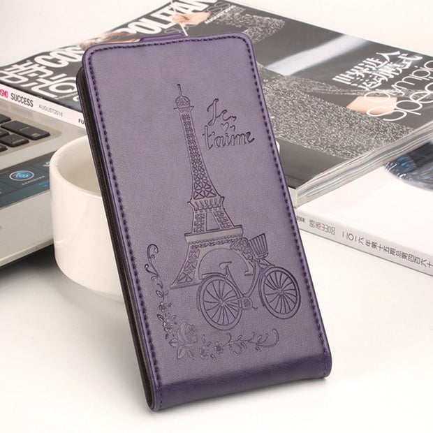 Brand HongBaiwei Cover For Blackview A8 Moblie Case Fashion Embossed Tower Flip Leather Cover Case For Blackview A 8 Coque Funda