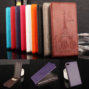 Brand HongBaiwei Embossed Eiffel Tower Wallet Case For Lenovo S60 S60T S60-t S60W Vertical Flip Leather Cover With Card Slot