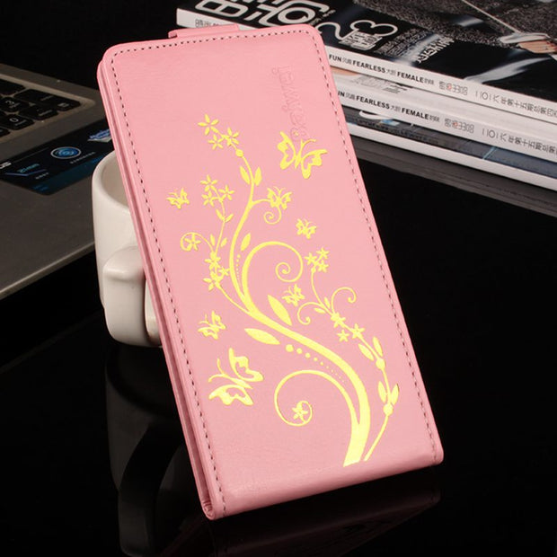 Brand HongBaiwei For Lenovo A369 Case For Lenovo A 369 A 369i Fashion Design Pattern PU Leather Case Cover