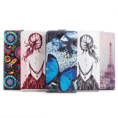 Brand HongBaiwei Luxury Printed Flip Leather Case For Oukitel K4000 Pro