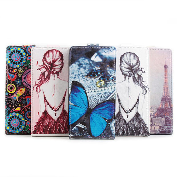 Brand HongBaiwei Painting Case For Xiaomi Hongmi Note4 Note 4 5.5 Inch Filp Wallet Case For Redmi Hongmi Note 4 Cover Phone Bag