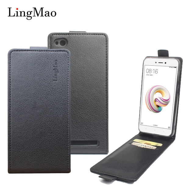 Brand Litchi Grain For Redmi 5A Case High Quality Leather Case Back Cover With Wallet For Redmi 5A Phone Shells