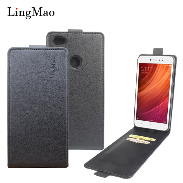 Brand Litchi Grain For Redmi Note 5A Pro Case High Quality Leather Case Back Cover With Wallet For Redmi Note 5A Pro Phone Shell