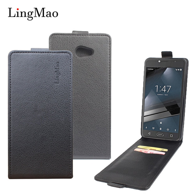 Brand Litchi Grain For Vodafone Smart Ultra 7 Case High Quality Leather Case With Wallet For Vodafone Smart Ultra 7 Phone Shells
