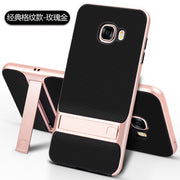 Brand New 3D Kickstand Phone Case For Samsung C5, PC +TPU Ultra-thin Luxury Back Cover For Samsung Galaxy C5 C5000 Phone Shell