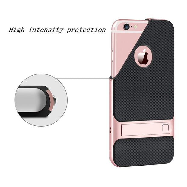 Brand New 3D Kickstand Phone Case For IPhone 6 4.7 Inch, PC +TPU Ultra-thin Luxury Back Cover For IPhone 6S 4.7 Inch Phone Shell