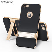 "Brand New 3D Kickstand Phone Case For IPhone 6 Plus, PC +TPU Ultra-thin Luxury Back Cover For IPhone 6S Plus 5.5 "" Phone Shell"