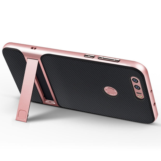 "Brand New 3D Kickstand Phone Case Huawei Honor 8, PC +TPU Ultra-thin Luxury Back Cover For Huawei Honor 8 5.2"" Phone Shell"