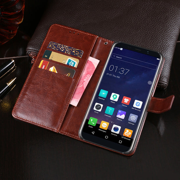 Business Leather Wallet Phone Bag Cases For Bluboo S8 Case Mobile Phone Back Cover For Bluboo S8 Flip Fundas Phone Bags Case