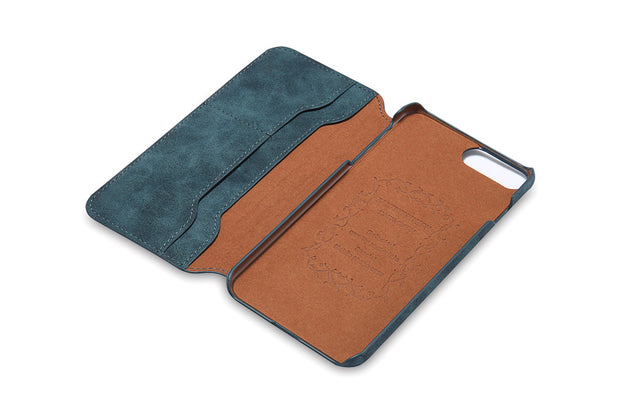 Business Style Leather Wallet Case For IPhone 7 8 Plus X 6 Plus 6S Flip Cover Ultra Thin Card Holder Phone Cases