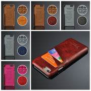 Business Style Luxury Vintage Leather Case For IPhone X 10 8 Plus Cover Wallet Card Holder Funda For IPhone 7 7 Plus 6 6s 5S SE