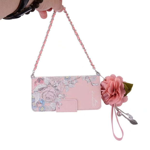 BuzzLee Retro Cute Pink Rose PU Flower Leather Handbag Flip Wallet Case For Huawei P9 Plus P9 P10 Plus P10 For Xiaomi Mi6 Cover