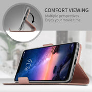 CASEWIN Flip Cover For Xiaomi Redmi Note 6 Pro Case PU Leather Wallet Case For Redmi Note 6 Pro Funda With Card Holders Stand
