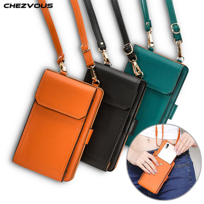 CHEZVOUS Women Phone Bags Pouch For IPhone X 6 7 8 Plus 5s Simple Small Crossbody Bags Casual Ladies Flap Shoulder Bag 5.5 Inch