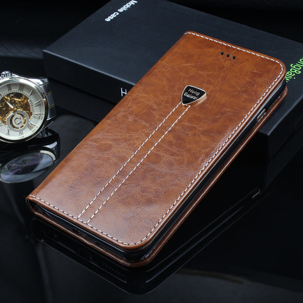 CUBOT X18 Case Luxury PU Leather Flip Wallet Case For CUBOT X18 Case Coque CUBOT X18 Case On Phone Stand Protective Book Cover