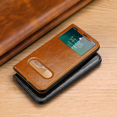 CYBORIS For Iphone 6/Iphone 6P/Iphone 7/Iphone 7P Cover Luxury Genuine Leather Case Fitted Cover For Iphone 8/8P/x Stand Hosing